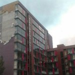 Ночная буря разорвала фасад с Пурвциема-проект